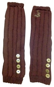 Baby Phat Button accented Baby Phat leg warmers