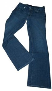 7 For All Mankind Cotton/Polyester/Spandex 30/31 Clean Soft Great Fit Mid Rise 10 Boot Cut Jeans-Medium Wash