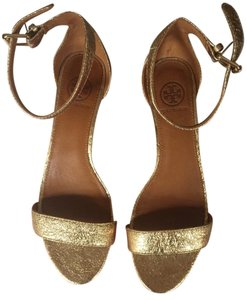 Tory Burch Gold Wedges