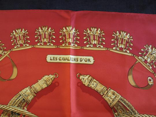 Hermès Hermes Les Cavaliers D'or by Rybal Scarf 1975
