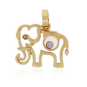 Chopard Chopard Happy Diamond 18k Yellow Gold Elephant Charm
