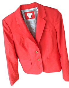 J.Crew Autumn Fall Bright Schoolboy Orange-red Blazer