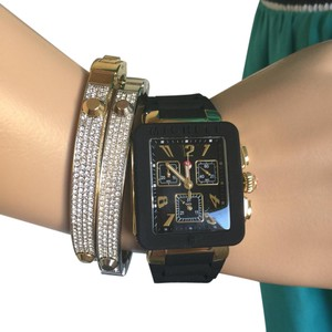 Michele NWT PARK JELLY BEAN GOLD/ Black watch MWW06L000015