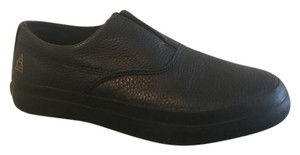 Dylan Rieder Slip-on Leather Shoe black Flats