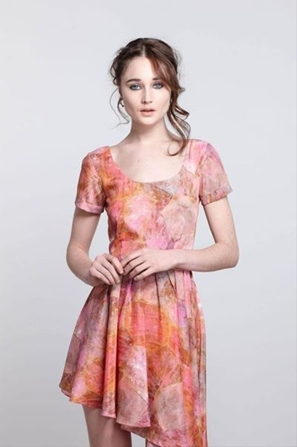 Anthropologie Party Coral Dress