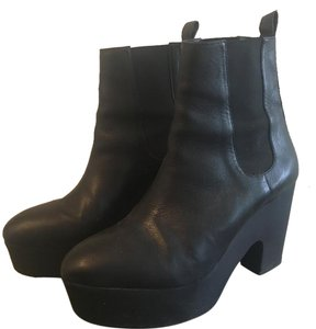 Loeffler Randall Leather Bootie Chunky black Boots