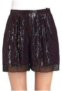 Diane von Furstenberg Sequin Dress Shorts Purple