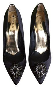 Ted Baker Black Satin Pumps
