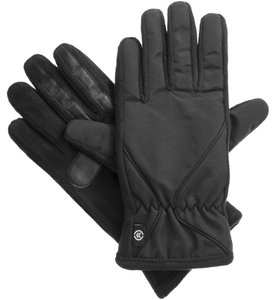 Isotoner Black Woven Fleece smarTouch THERMAflex Sport Gloves M L