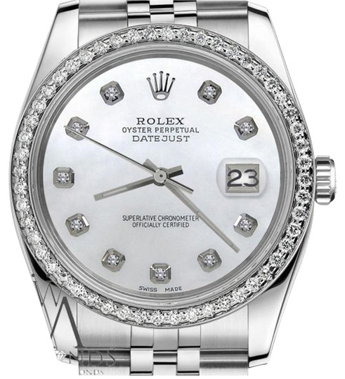 Preload https://item3.tradesy.com/images/rolex-women-s-26mm-datejust-white-mother-of-pearl-dial-with-diamond-watch-19352227-0-1.jpg?width=440&height=440
