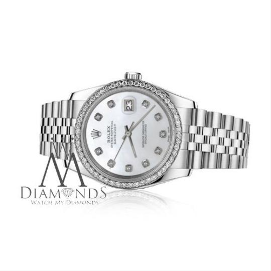 Rolex Women`s 26mm Datejust White Mother of Pearl Dial with Diamond Watch