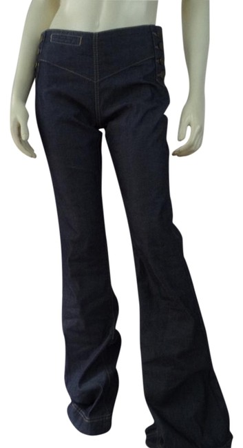 Preload https://item2.tradesy.com/images/bcbgeneration-blue-dark-rinse-26-lightweight-low-wide-bell-flare-leg-jeans-size-30-6-m-19352321-0-1.jpg?width=400&height=650