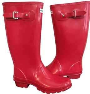 Hunter Gloss Huntress Red Red Boots