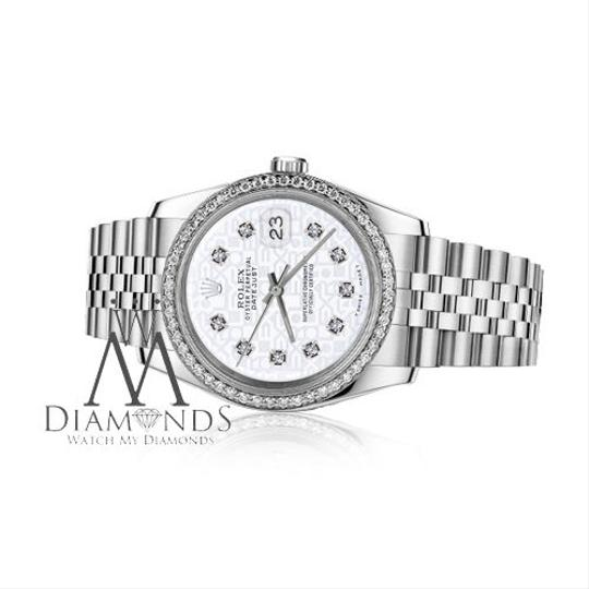 Rolex Women`s 26mm Datejust White Color Jubilee Dial with Diamonds Watch