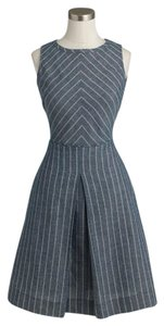 J.Crew short dress blue ivory stripe on Tradesy