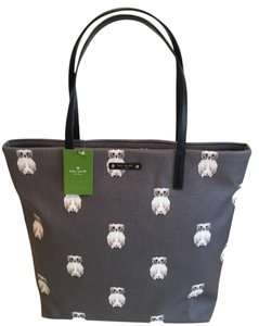 Kate Spade Nwt Owl Tote in Grey owls