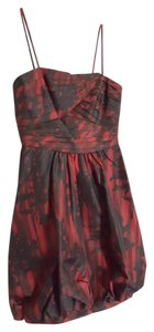 BCBGMAXAZRIA Spaghetti Strap Bubble Silk Dress