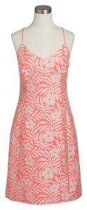 J.Crew short dress neon pink peach on Tradesy