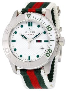 Gucci GUCCI G Timeless Striped Nylon Strap Men's Watch YA126231