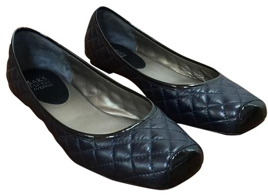 Saks Fifth Avenue Midnight blue Flats
