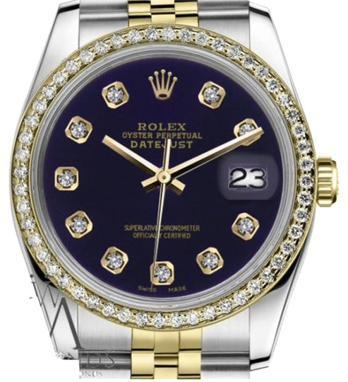 Preload https://item3.tradesy.com/images/rolex-women-s-26mm-datejust-2-tone-purple-color-dial-with-diamond-accent-watch-19352632-0-1.jpg?width=440&height=440