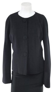 Lafayette 148 New York Black Virgin Wool Blazer