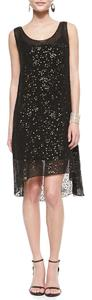 Eileen Fisher Sequin Hi Lo Silk Dress