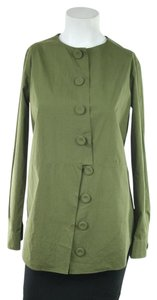 Moschino Olive Green Cotton Button Down Shirt