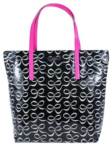 Kate Spade Bows Nwt Free Shipping Tote in Black/White/Pink