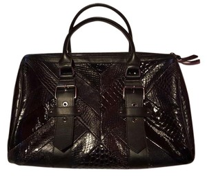 Longchamp Kate Moss Neo Patch Satchel in Black