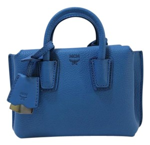 MCM Small Mini 8806195805534 Blue Nwt Satchel in Tile Blue