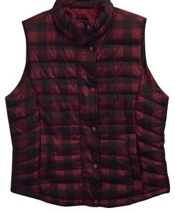 Gap Pet And Smoke Free Plaid Vest