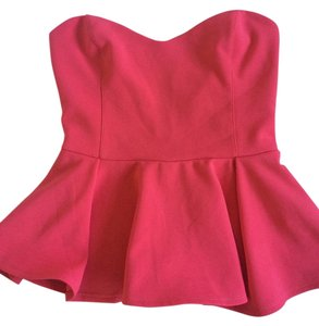 Lush Strapless Top Coral