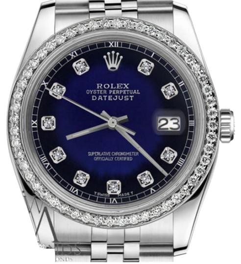 Preload https://img-static.tradesy.com/item/19353027/rolex-ladies-31mm-datejust-blue-vignette-color-dial-diamond-accent-sp-watch-0-1-540-540.jpg