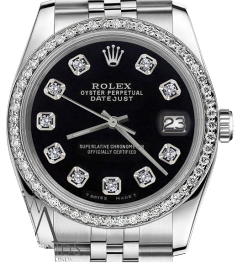 Preload https://item1.tradesy.com/images/rolex-ladies-31mm-datejust-black-color-dial-with-diamonds-watch-19353145-0-1.jpg?width=440&height=440