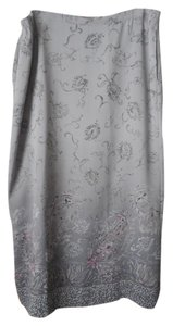 Pendleton Polyester Fully Lined Ombre Paisley Skirt Grey