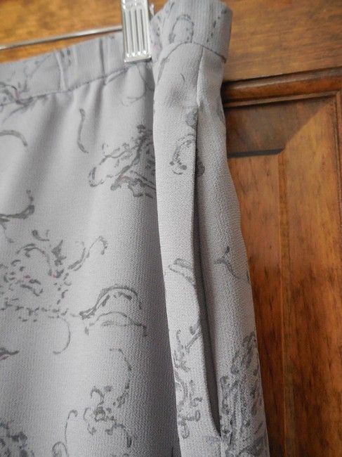 Pendleton Polyester Fully Lined Ombre Paisley Skirt Light to Dark Grey