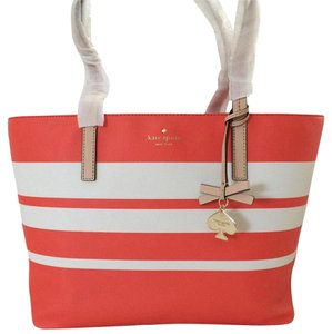 Kate Spade Tote in Bright Papaya/cement