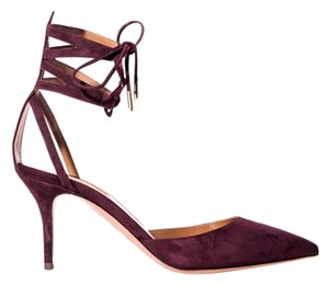 Aquazzura Dark Orchid Pumps