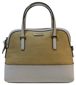 Kate Spade Nwt Light Weight Satchel in Natural/Bright White