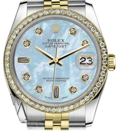Preload https://img-static.tradesy.com/item/19353284/rolex-men-s-36mm-datejust-2-tone-baby-blue-mother-of-pearl-82-diamond-watch-0-1-540-540.jpg