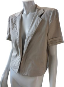 Kenneth Cole Stretchy Open Front Khaki Jacket
