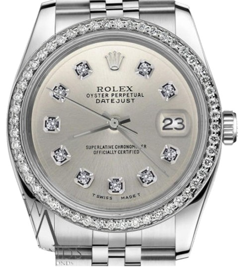 Preload https://img-static.tradesy.com/item/19353377/rolex-ladies-31mm-datejust-stainless-steel-silver-color-diamond-dial-watch-0-1-540-540.jpg