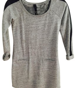 Jessica Simpson short dress Gray and black Sweater Metallic Leather Winter on Tradesy
