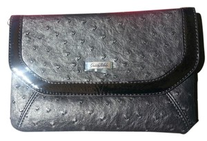 Grace Adele Ostrich black Clutch