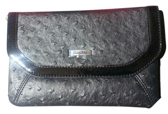 Preload https://item2.tradesy.com/images/grace-adele-tess-ostrich-black-faux-leather-clutch-19353416-0-1.jpg?width=440&height=440