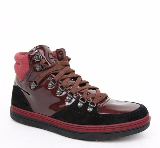 Gucci Dark Red Men's Suede Contrast High-top 368496 1078 Size 10 G/Us 10.5 Shoes