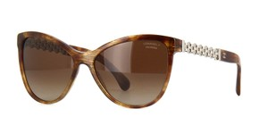 Chanel NEW CHANEL 5326 Brown Polarized Chain Butterfly Sunglasses