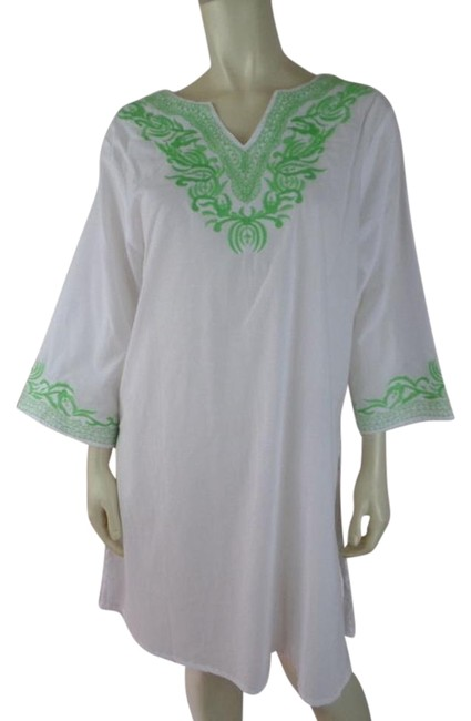 Preload https://img-static.tradesy.com/item/19353531/white-wlime-see-thru-cotton-pullover-embroidery-new-tunic-size-10-m-0-1-650-650.jpg