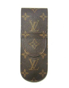 Louis Vuitton Monogram Canvas Leather Etui Stylos Pen Case Spain